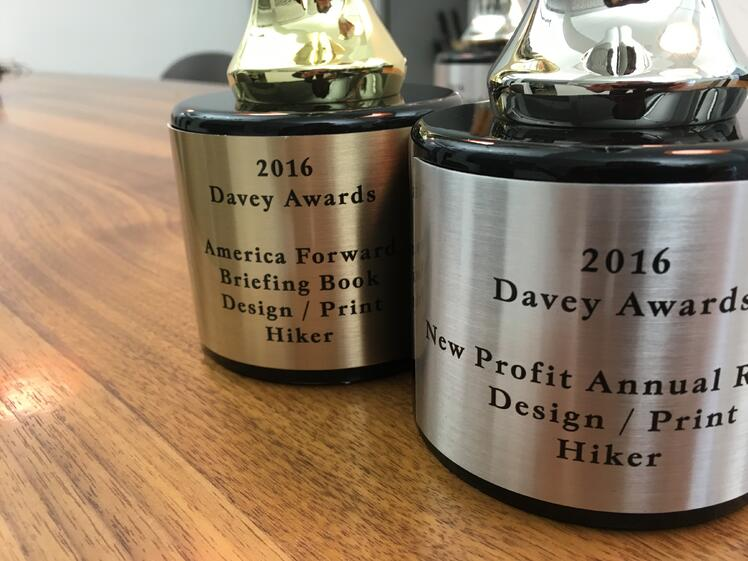 Our Creative Agency Partner Hiker Won Two Davey Awards!