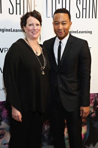 Vanessa Kirsch, Founder and CEO of New Profit, and John Legend at the Reimagine Learning launch event.