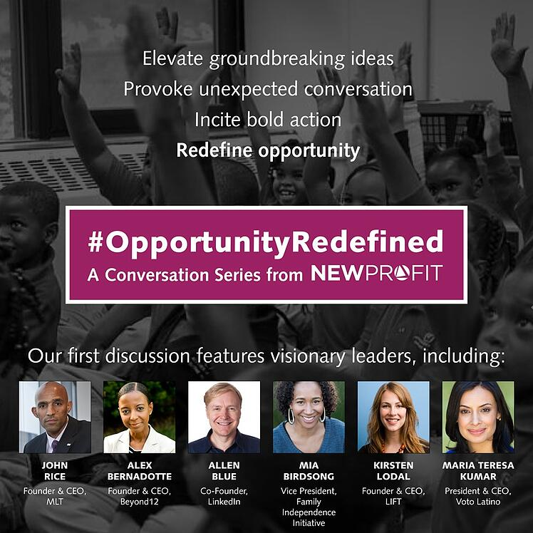 #OpportunityRedefined: New Entrepreneur-Driven Dialogue Series