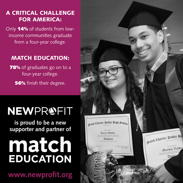 New Profit Commits $1 Million in Support of Match Education