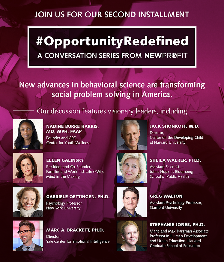 #OPPORTUNITYREDEFINED: Behavioral Science Is Revolutionizing Social Problem Solving