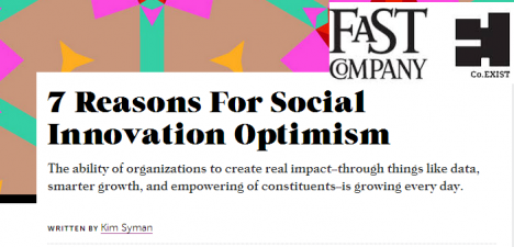 7 Reasons For Social Innovation Optimism