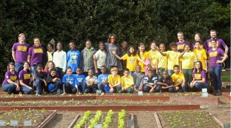 FoodCorps Plants at the White House Garden with First Lady Michelle Obama
