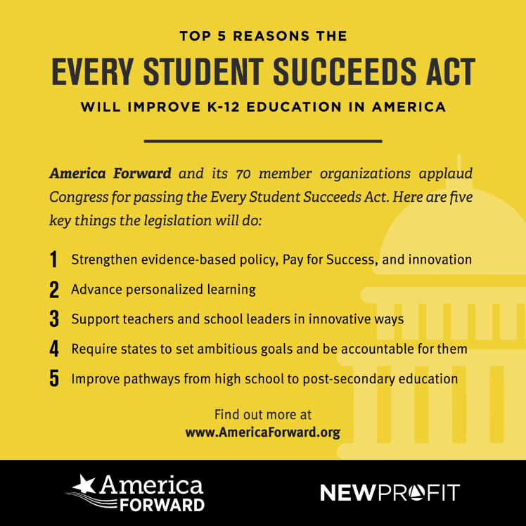 America Forward Applauds Passage of the Every Student Succeeds Act