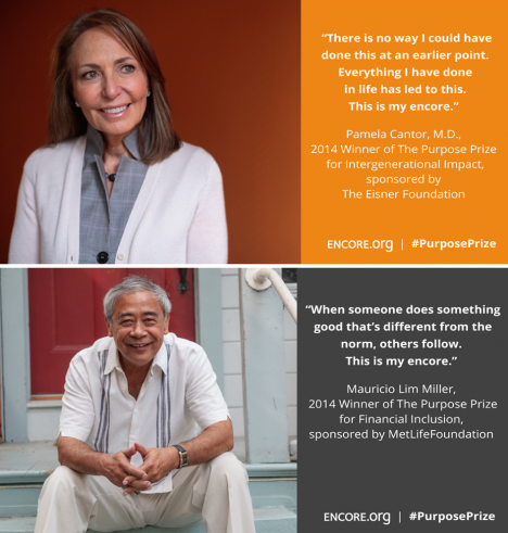 Two New Profit Social Entrepreneurs Among 2014 Purpose Prize Winners