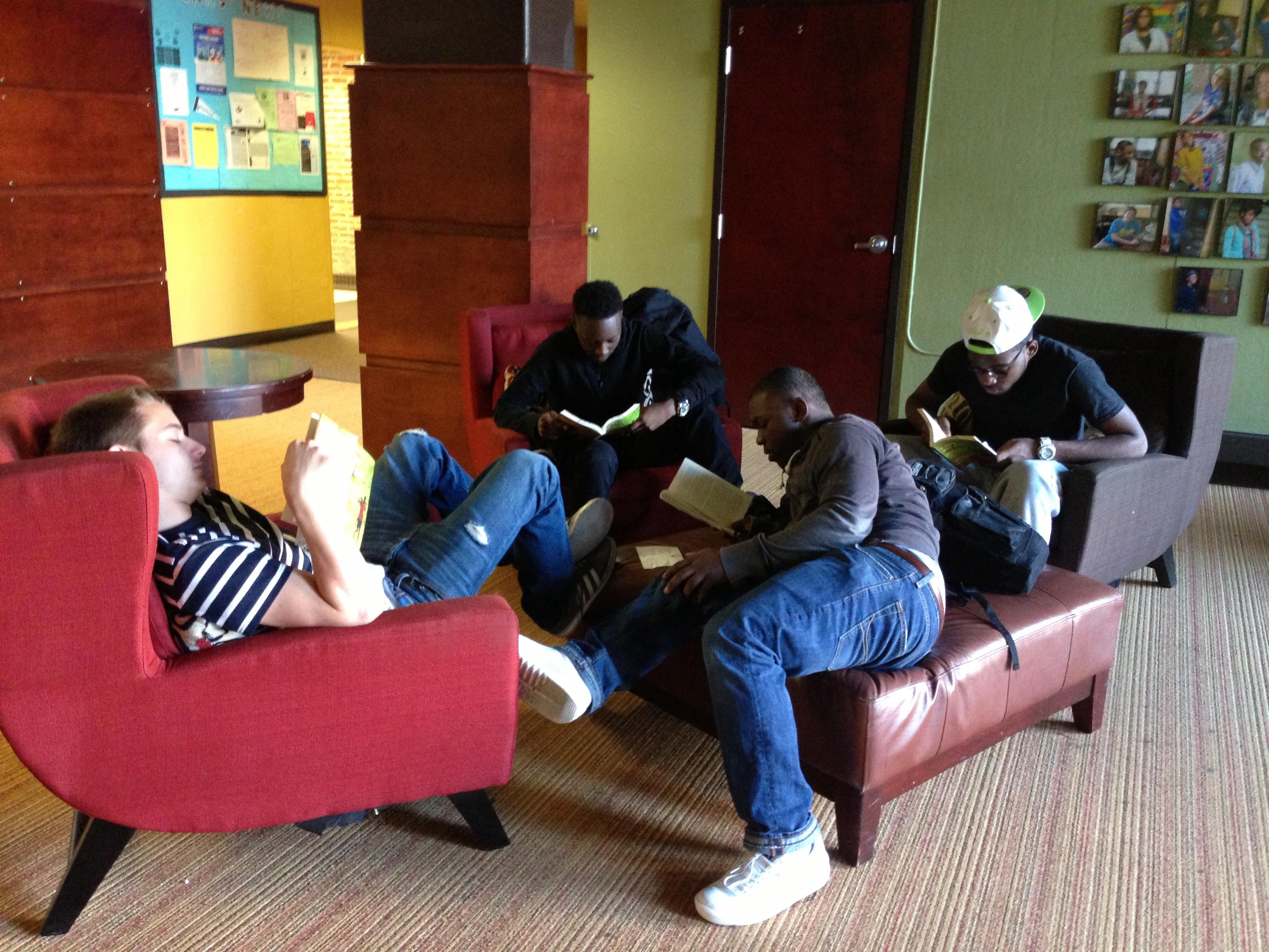CNHS Lobby and Boys reading.jpg